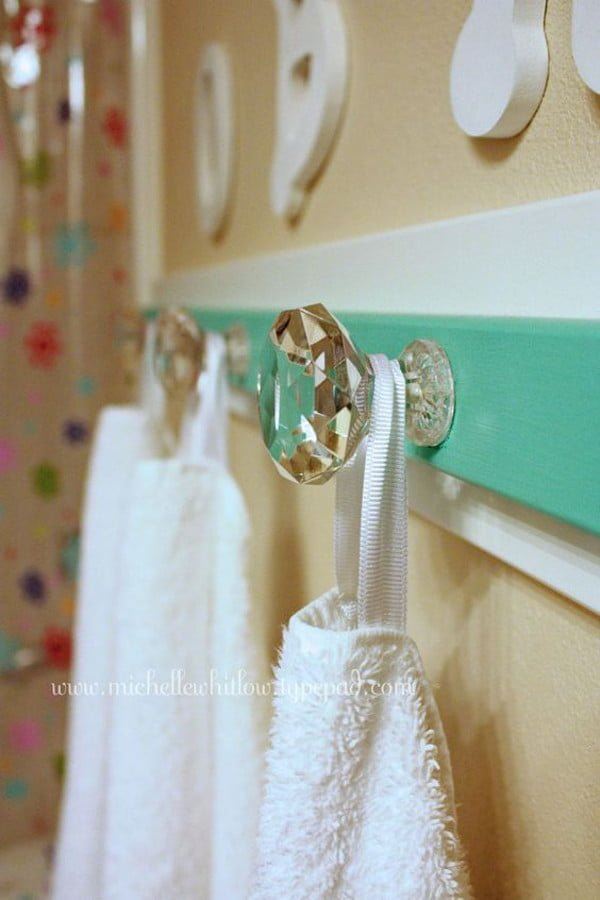 DIY Bathroom Towel Hooks