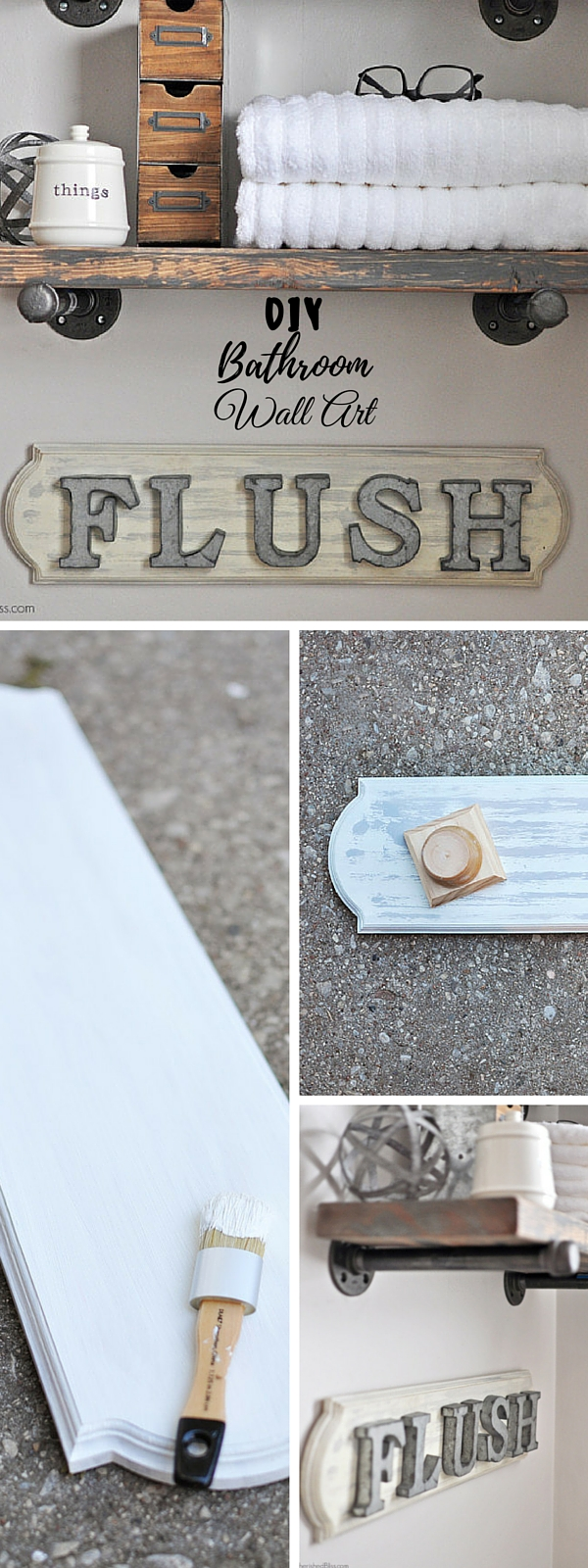 #DIY Bathroom Wall Art #bathroomdecor