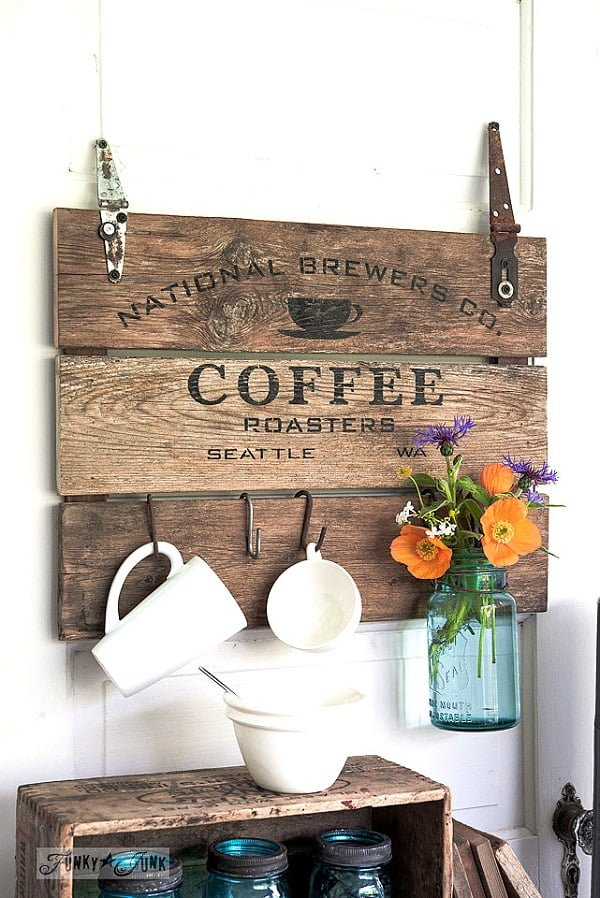 #DIY make a #rustic sign from a coffee crate lid. Nice idea! #homedecorideas