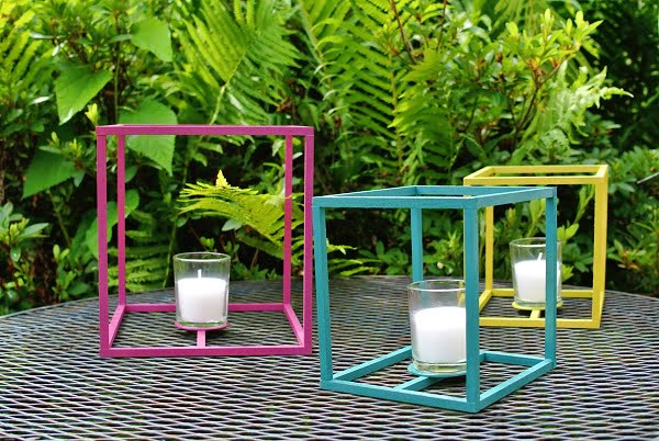 How to make #DIY outdoor cube lanterns for terrific decor. #homedecorideas