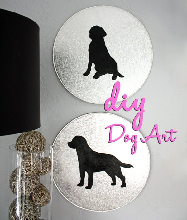 Cute idea! Make #DIY dog wall art. #homedecorideas