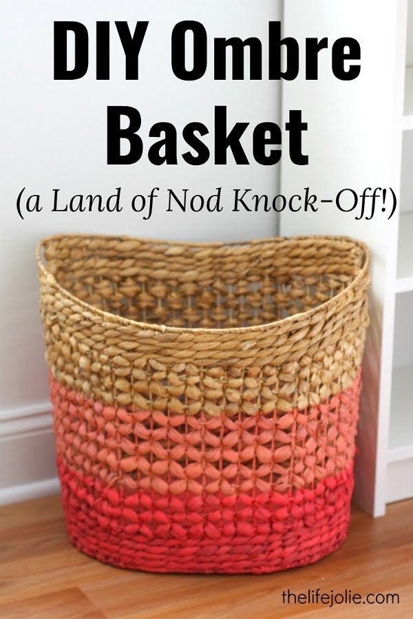 #DIY ombre basket for some extra style at home. Try it! #homedecorideas