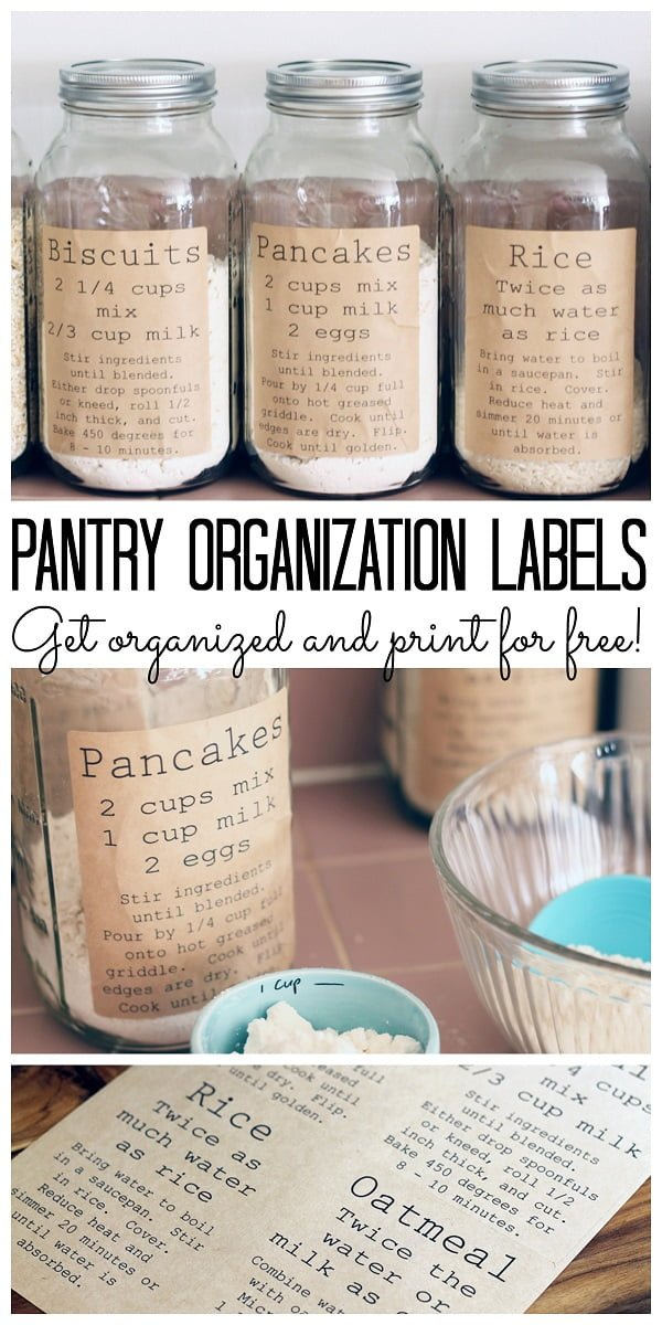 #DIY easy but very attractive pantry organization jar labels. Worth a try! #homedecorideas