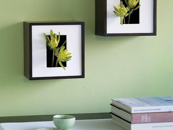 Neat idea! Make a #DIY wall vase/shadow box. Try it! #homedecorideas