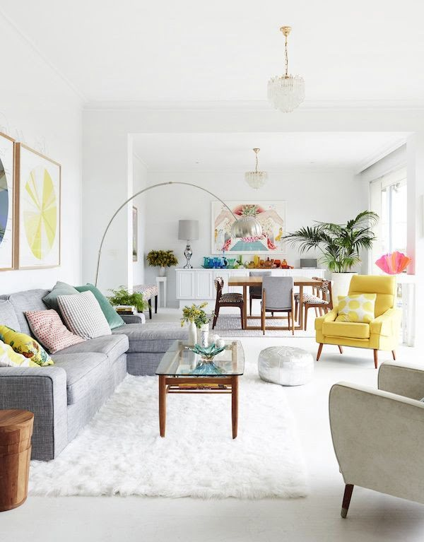 Introduce Color to an All-White Room