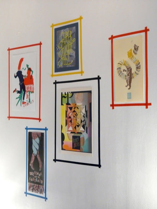 Tape Picture Frames #homedecor