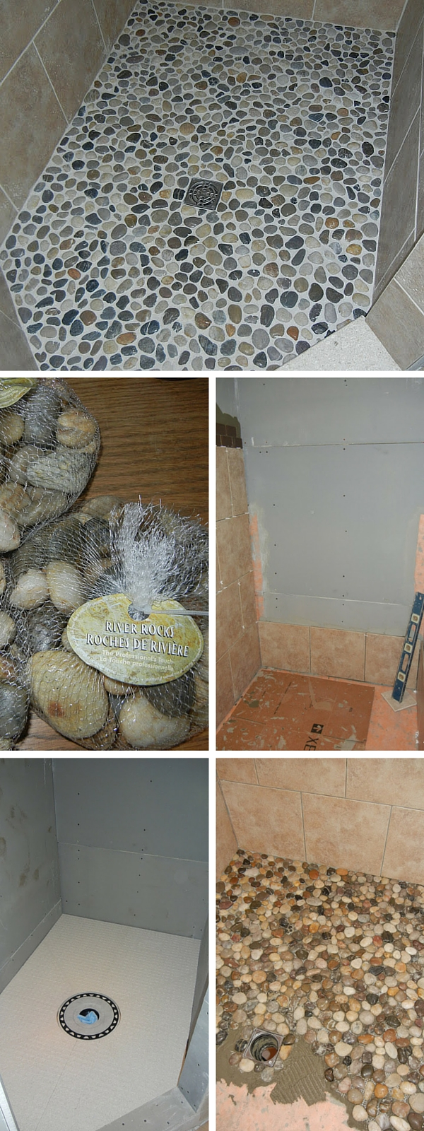 #DIY Pebble Tiling #bathroomdecor
