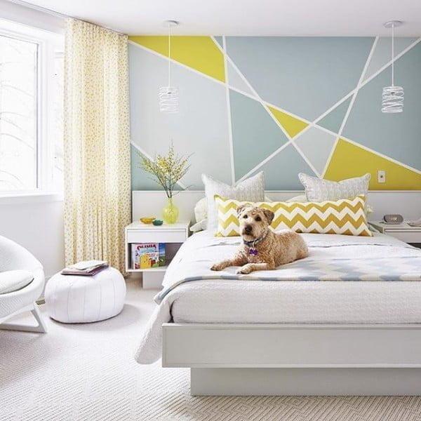 Accent Wall Paint Rules: 10 Simple Geometric Paint Ideas That Make Impressive Decor