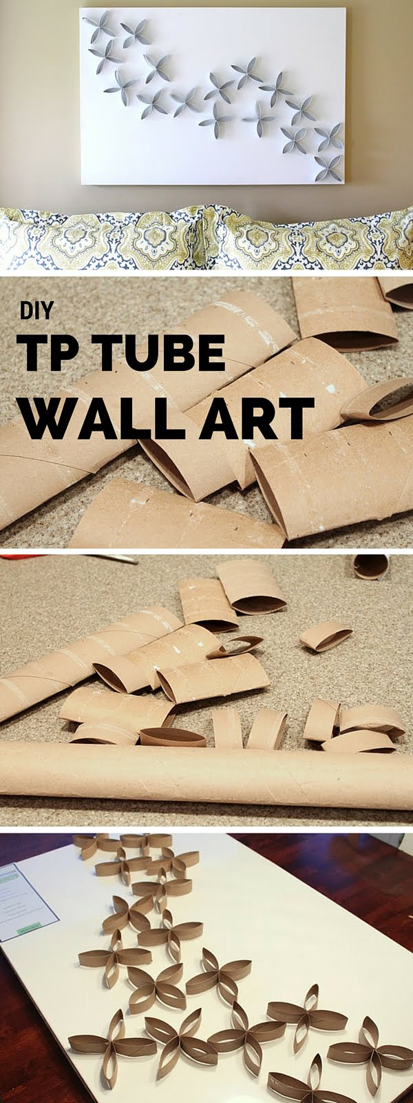 Check out the tutorial:  TP Tube Wall Art