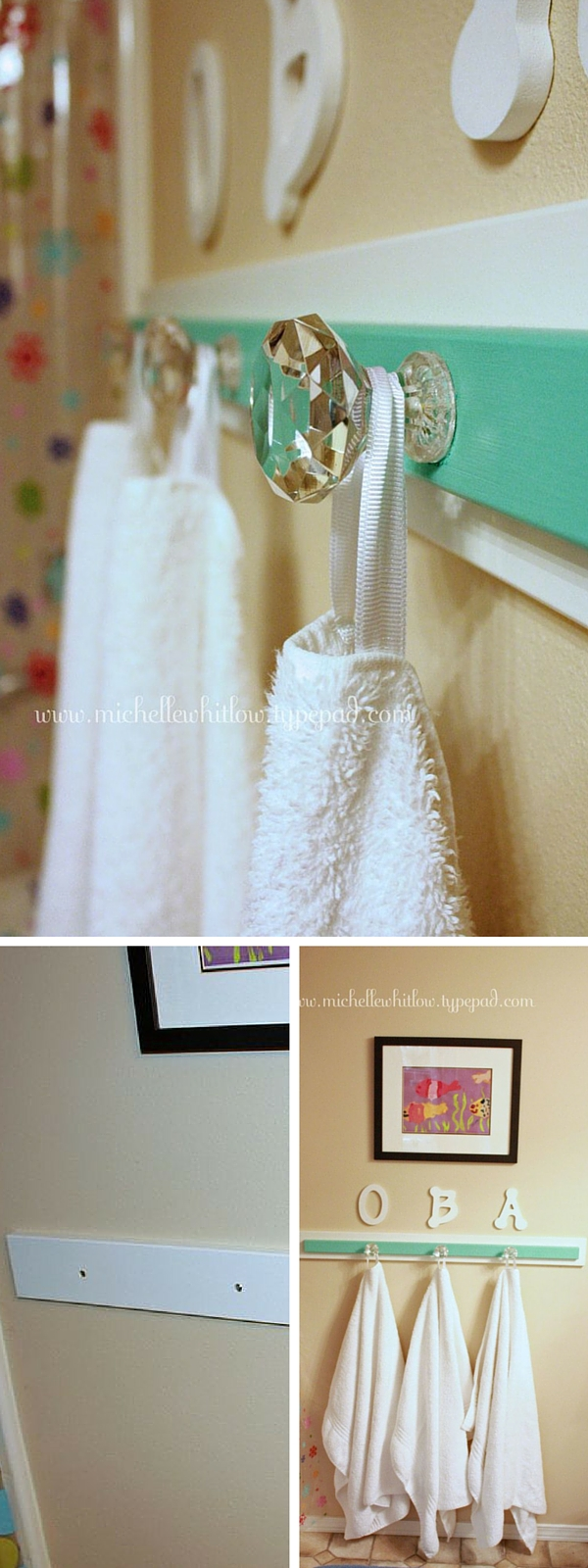#DIY Vintage Towel Hooks #bathroomdecor