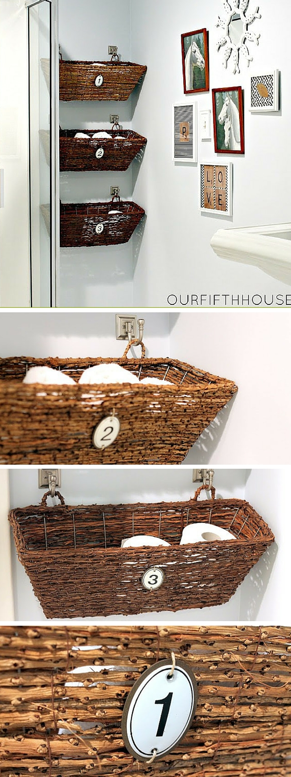 #DIY Window Box Bathroom Storage #bathroomdecor