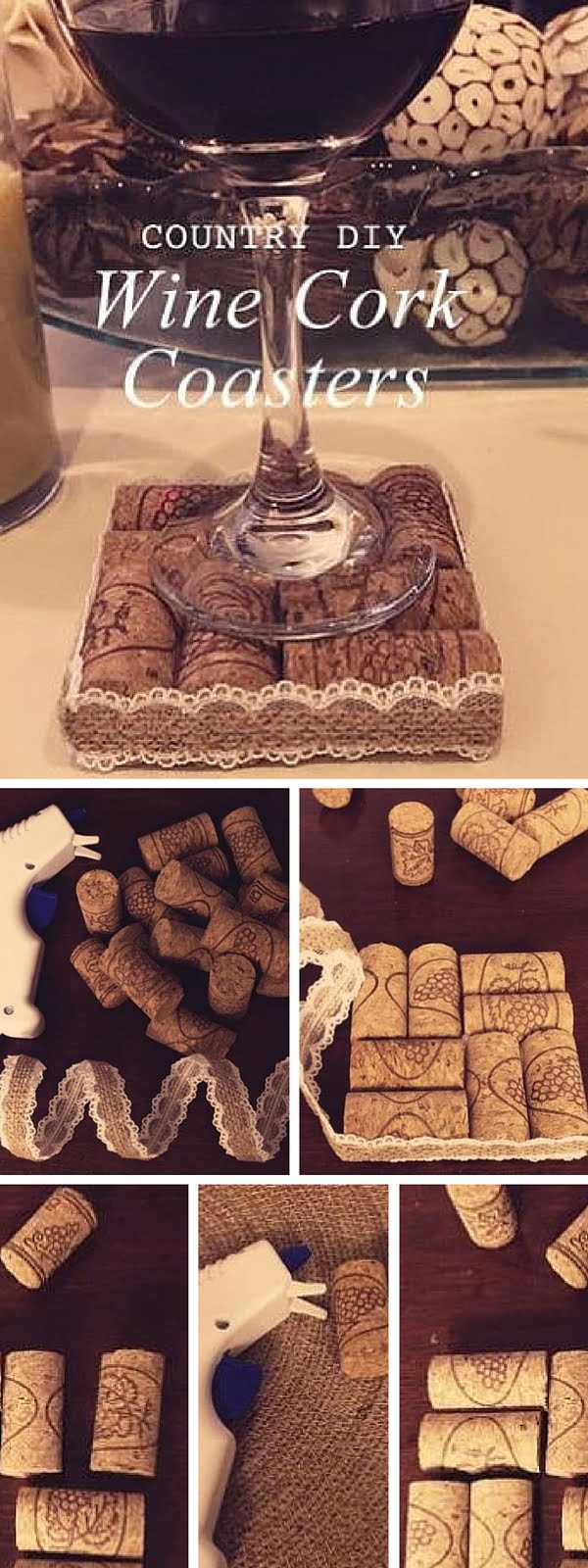 Check out the tutorial:  Wine Cork Coasters