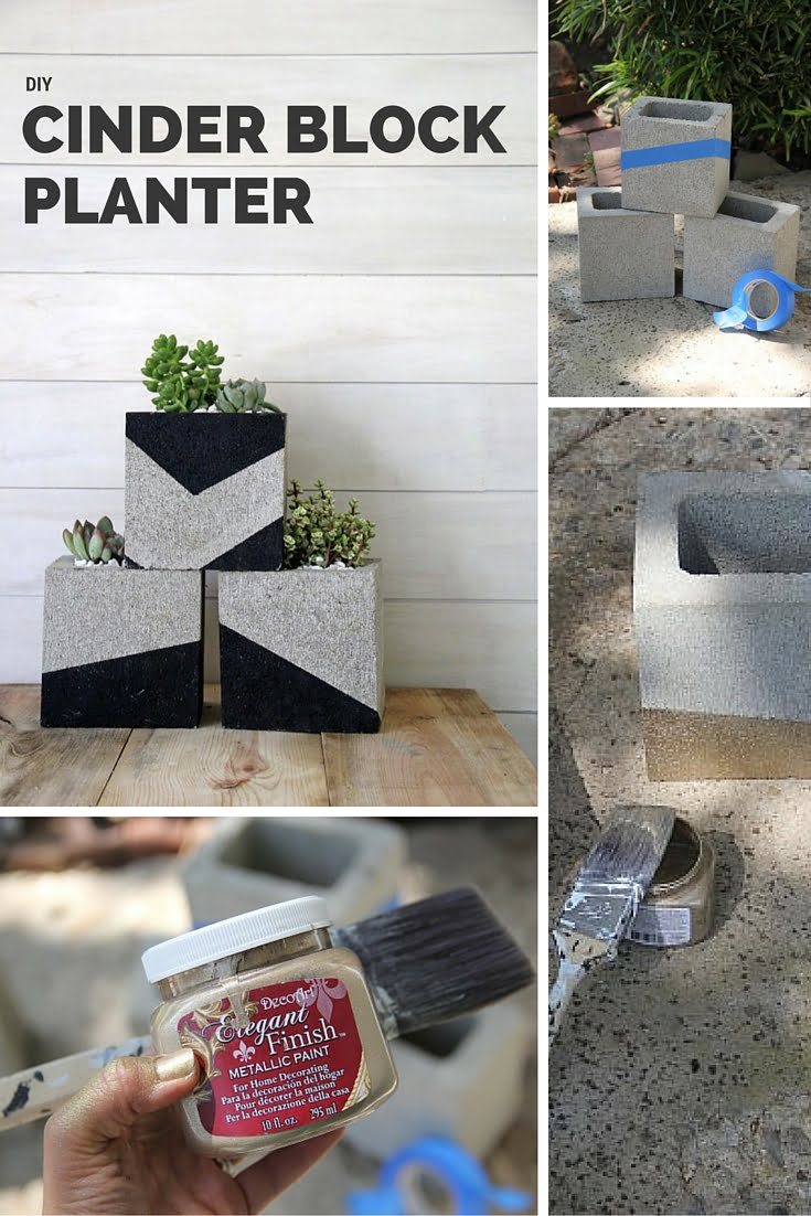 Check out the tutorial: DIY Cinder Block Planter #DIY #homedecor #gardening