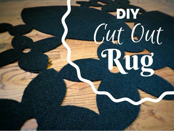 Check out how to make your own DIY cut out rug