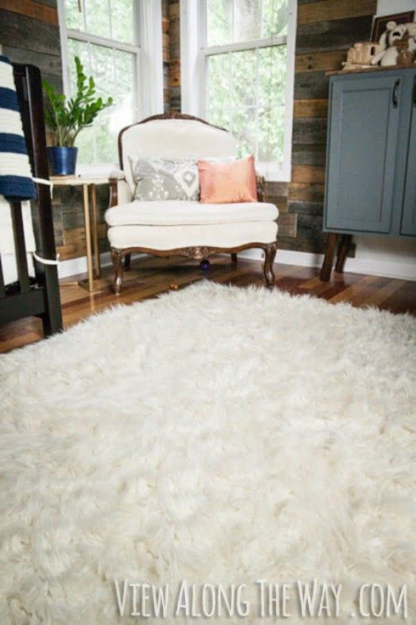 How to make a #DIY Faux Fur Rug