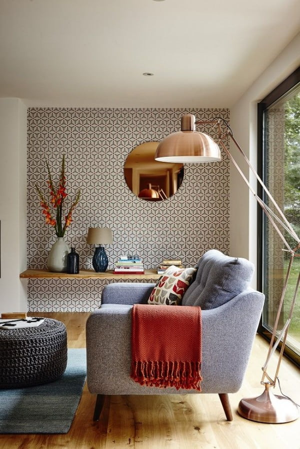 Pattern Accents in Modern Living Room Design #homedecor