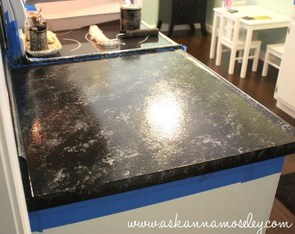 How to make a  painted countertop. Great idea! ideas