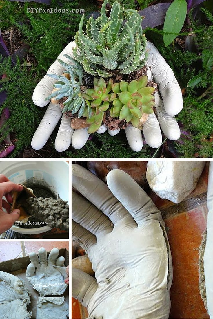 Check out the tutorial: DIY Gloves Planter #DIY #homedecor #gardening