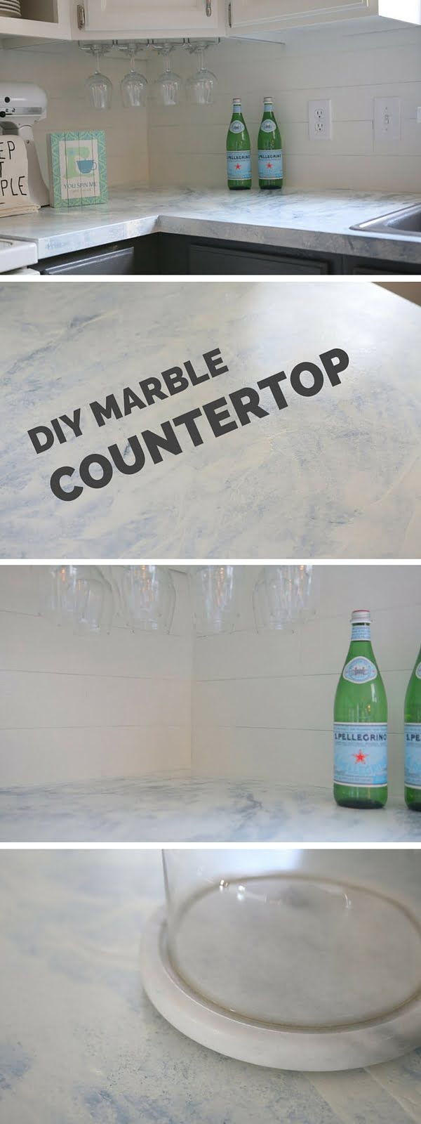 20 Easy Countertop DIY Tutorials to Revamp Your Kitchen - Check out the tutorial: DIY Marble Countertop