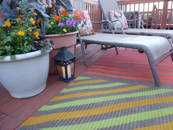 How to make a #DIY Outdoor Rug