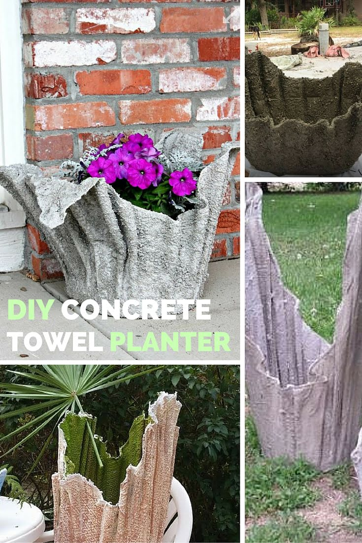 Check out the tutorial: DIY Towel Planter #DIY #homedecor #gardening