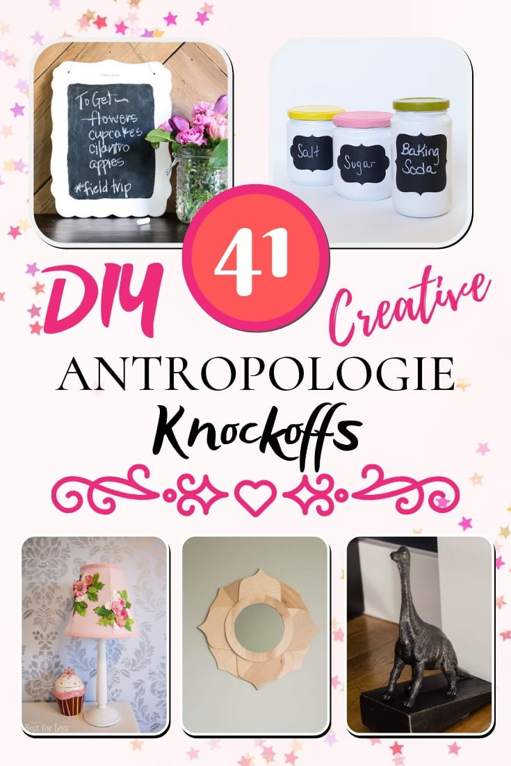 Anthropologie has some great home decor accessories but they can be quite expensive. Here's a list of 41 creative DIY Anthropologie knockoff tutorials to help you save! #homedecor #DIY