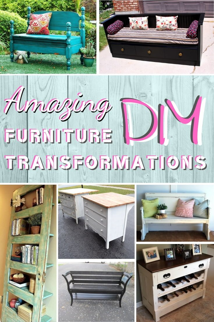 These are some of the most amazing DIY furniture transformations. And you can do them too! #DIY #homedecor #furniture