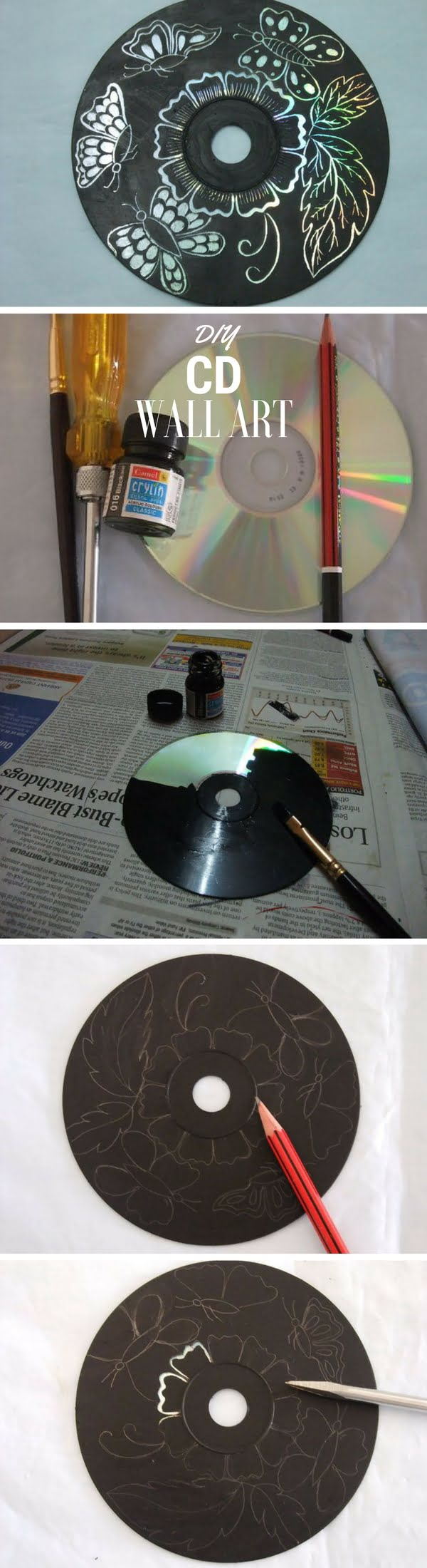 Check out the tutorial:  CD Wall Art