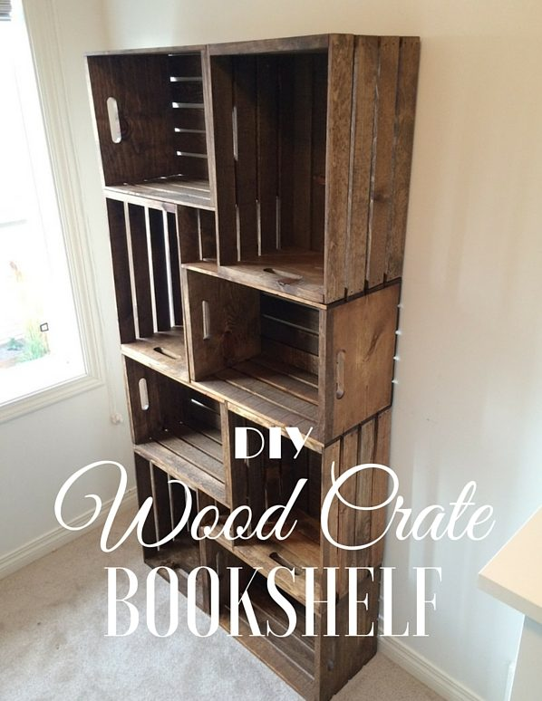 How to make  Crate Bookshelf