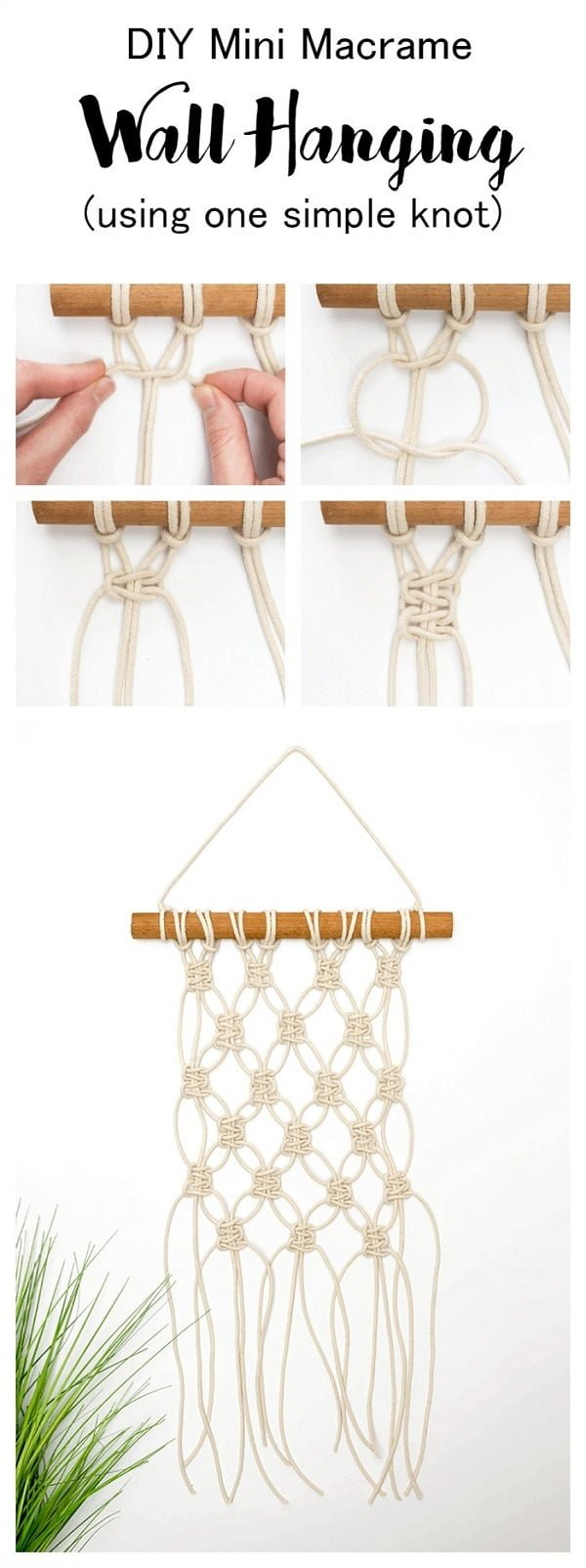 Check out this easy idea on how to make  mini macrame wall hanging for living room