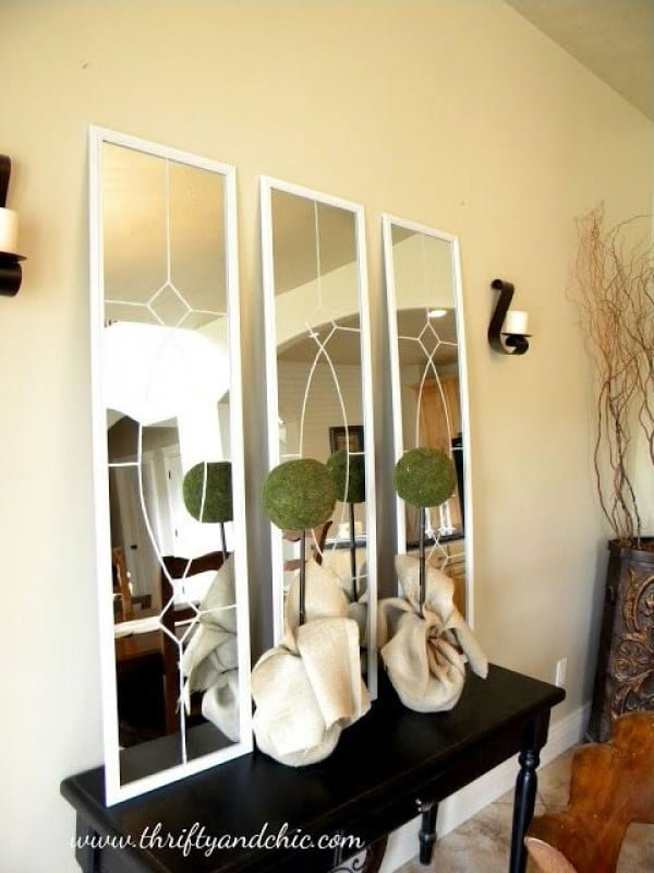 Check out the tutorial how to make a DIY decorative mirror