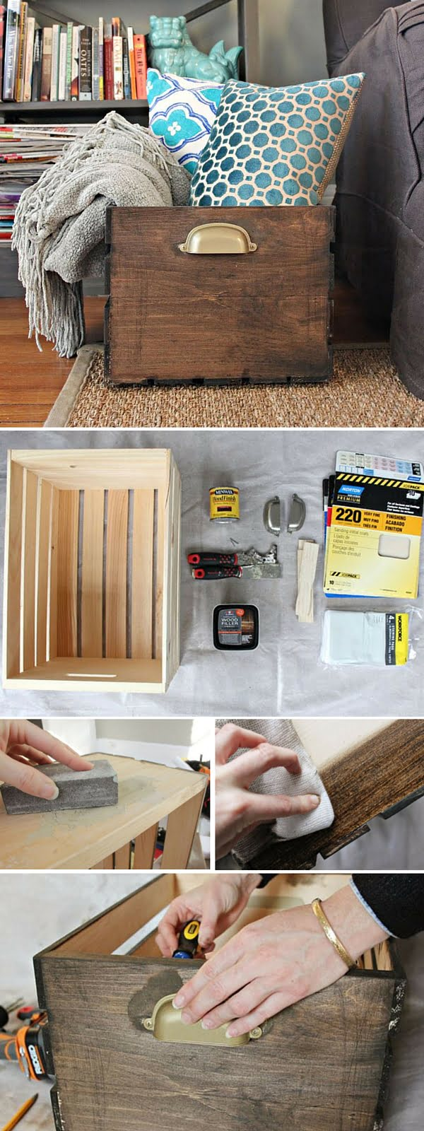 Check out the tutorial: #DIY Storage Crate #crafts #rustic #homedecor