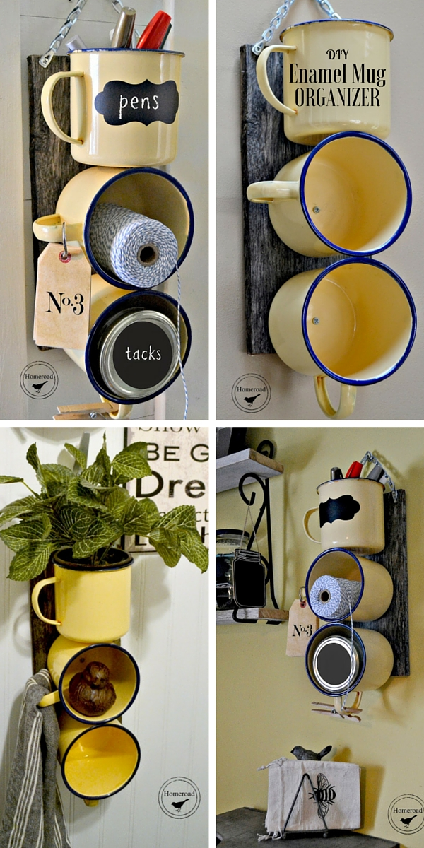 Check out the tutorial: #DIY Enamel Mug Organizer