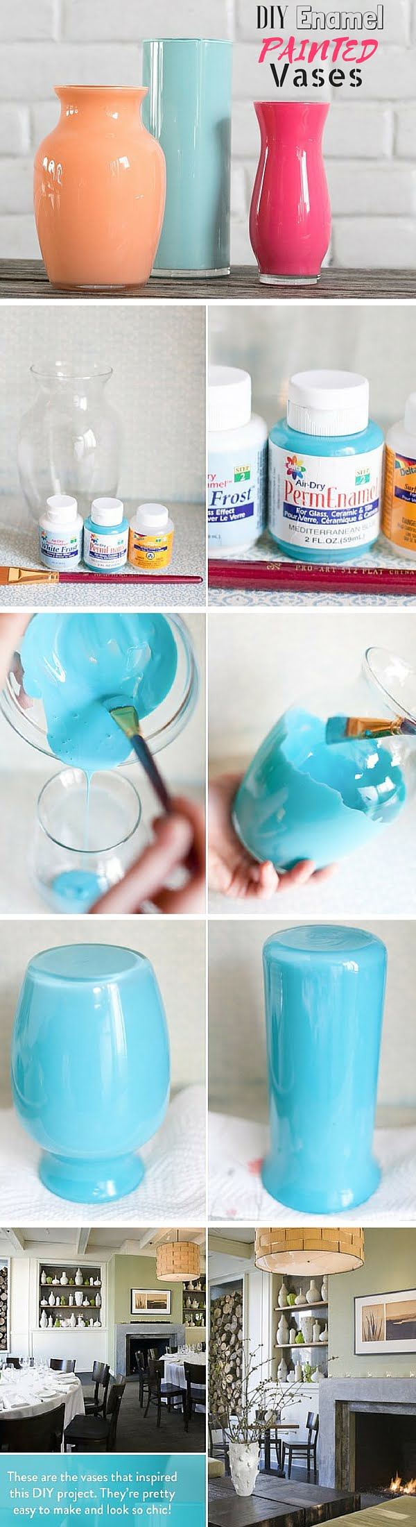 Check out the tutorial:  Enamel Painted Vases