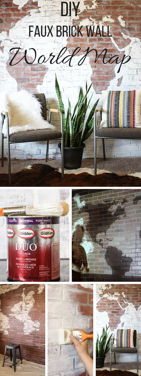 Check out the tutorial:  Faux Brick Wall World Map