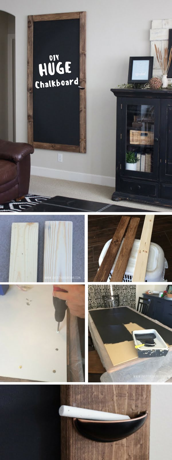 Check out the tutorial:  Huge Chalkboard