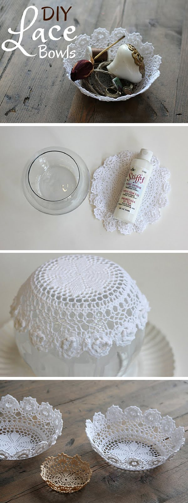 Check out the tutorial:  Lace Bowls