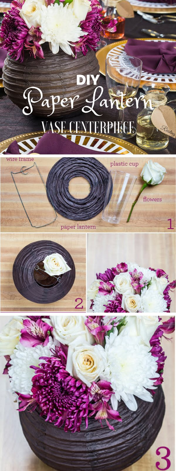 15 Easy and Brilliant DIY Home Decor Crafts on a Budget - Check out the tutorial: #DIY Paper Lantern Vase Centerpiece