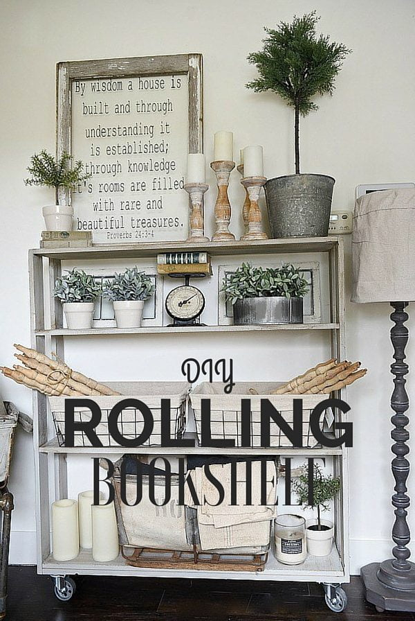 How to make  Rolling Bookshelf