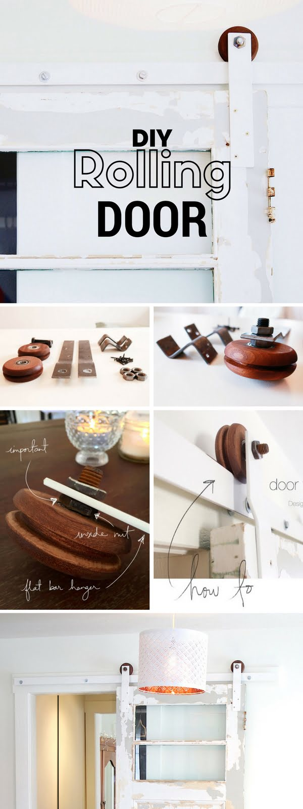 Check out the tutorial: #DIY Rolling Door