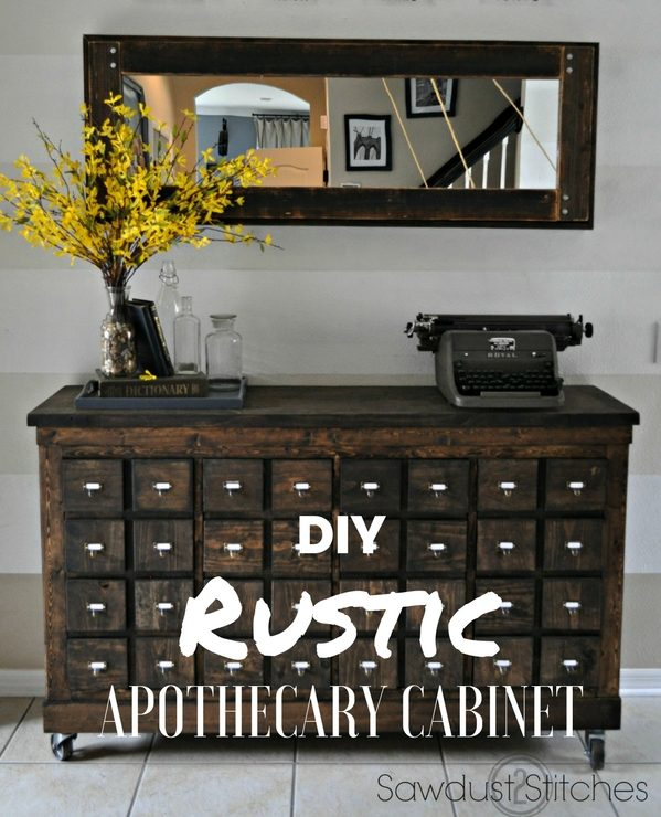How to make  Rustic Apothecary Cabinet