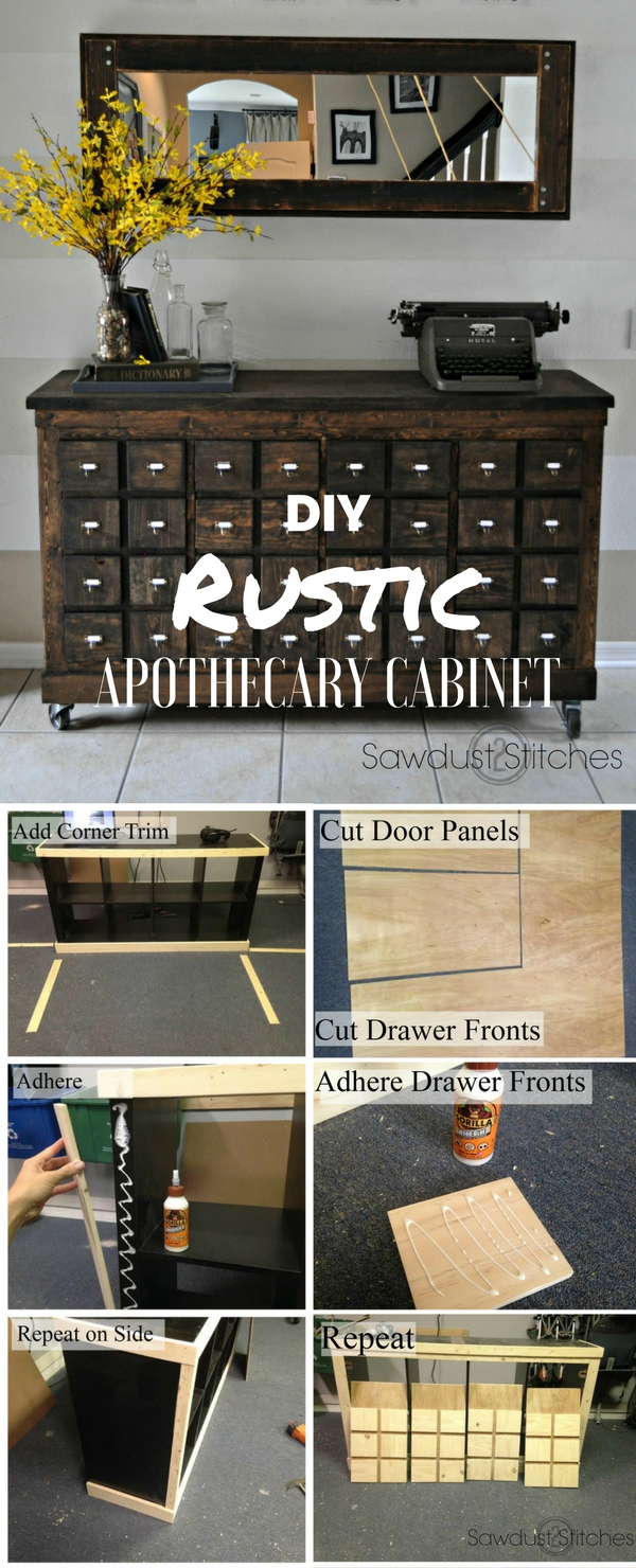 Check out the tutorial: #DIY Rustic Apothecary Cabinet