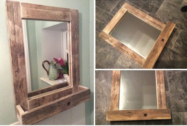 How to make  Rustic Mirror Shelf