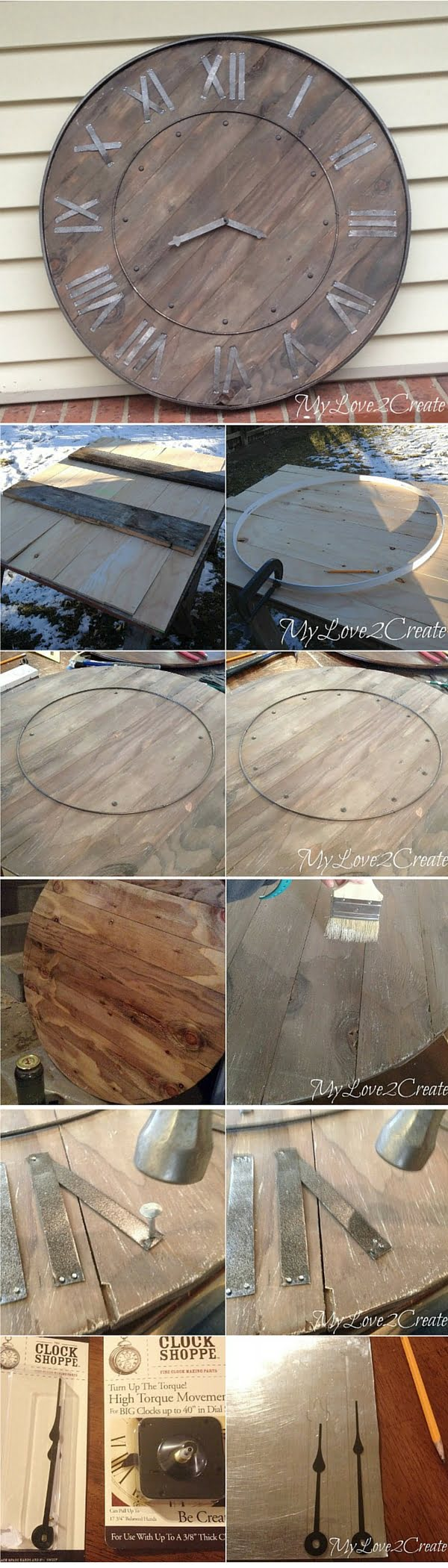 Check out the tutorial: #DIY Rustic Wall Clock #crafts #homedecor