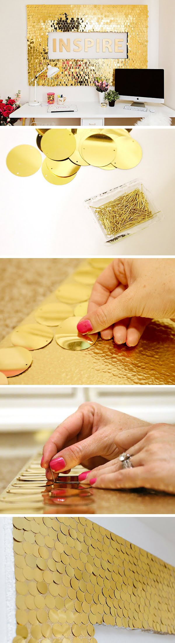 Check out the tutorial:  Sequins Wall Art
