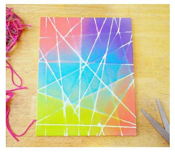 Check out this easy idea on how to make   string art graffiti wall decor