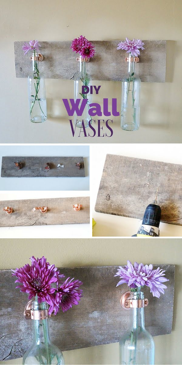 Check out the tutorial: #DIY Wall Vases