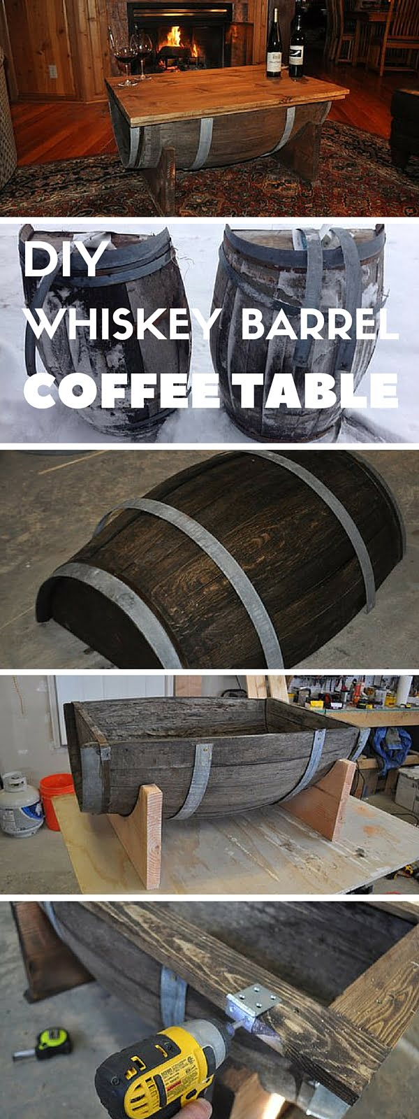 Check out the tutorial: #DIY Whiskey Barrel Coffee Table #crafts #homedecor