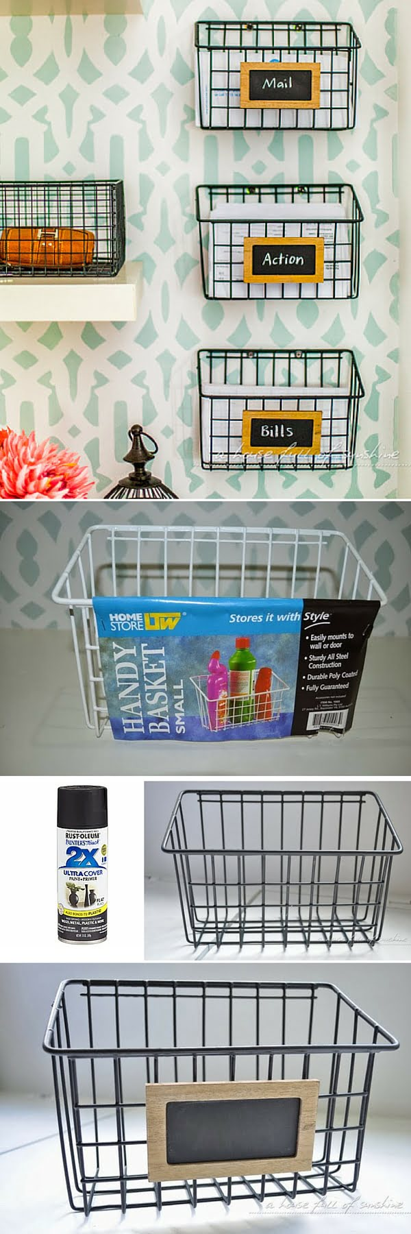 Check out the tutorial:  Wire Mail Baskets