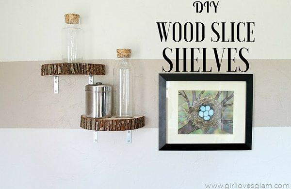 How to make  Wood Slice Shelves